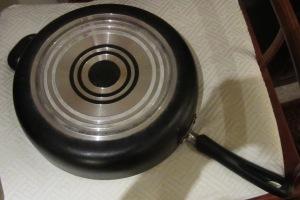 bottom of old saucepan