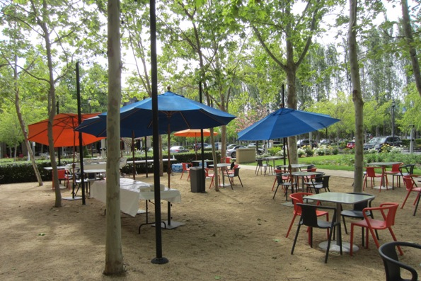 Outdoor lunch area at Googleplex