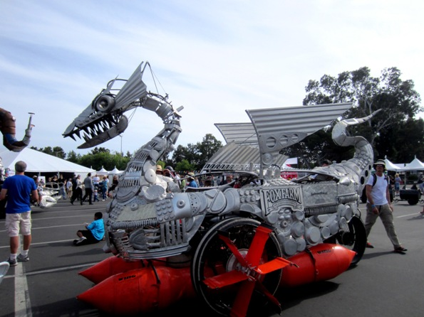 sea monster with floats