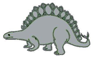 gray stegosaurus