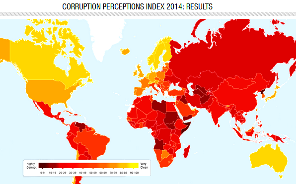 corruption map 2014